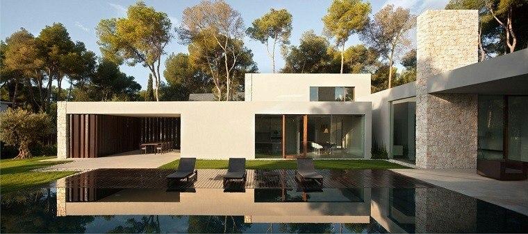Casa El Bosque diseño jardin piscina