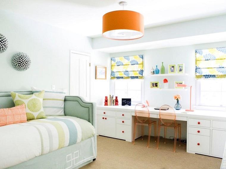 Erinn Valencich escritorio dormitorio chicas madera blanca ideas