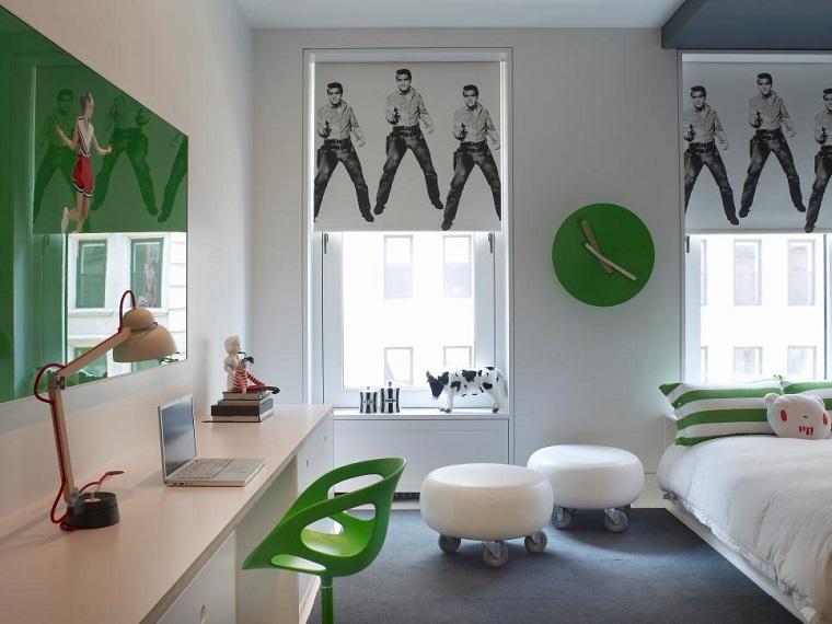 Ghislaine Vinas dormitorios adolescentes toques verdes ideas