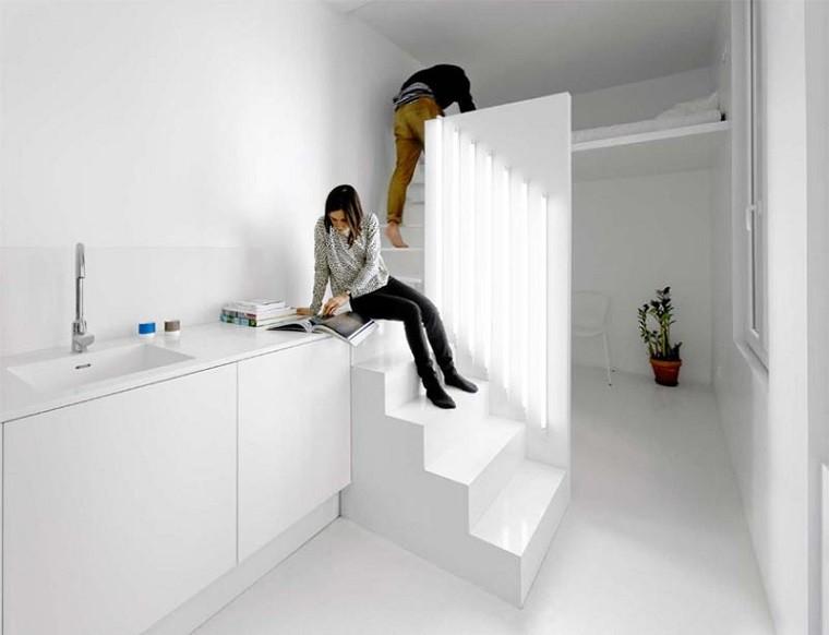 apartamento techo alto permite cama segundo nivel ideas