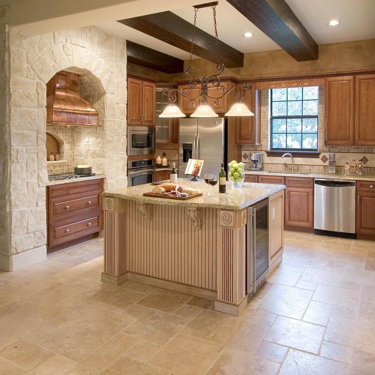 muebles vintage en la cocina ideas a lo cl sico muy On muebles de cocina color beige que colorea las paredes