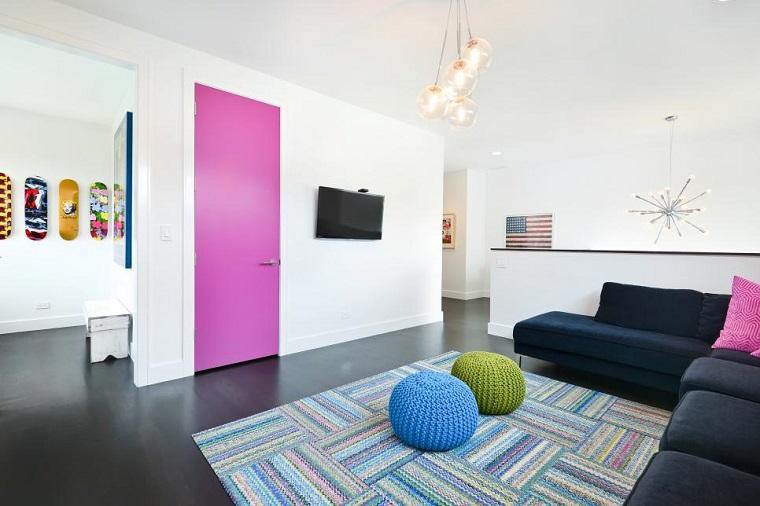 Linc Thelen salon estilo arte pop lineas simples moderno ideas