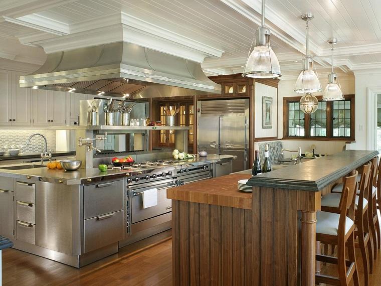 Peter-Salerno-Stainless-muebles-vintage-cocina-grande