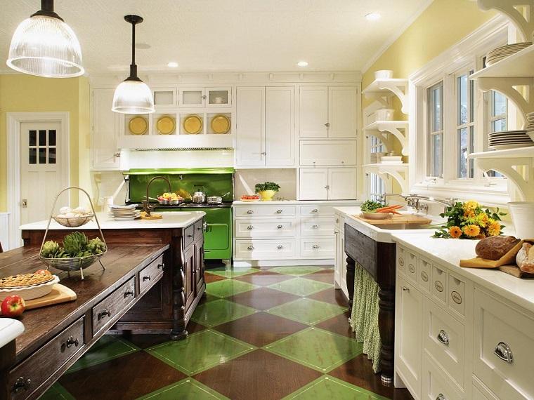 muebles vintage en la cocina ideas a lo clásico muy originales - - Muebles De Diseno Vintage