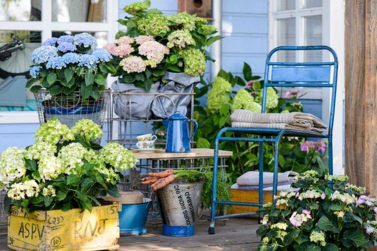 accesorios azules muebles jardin deco