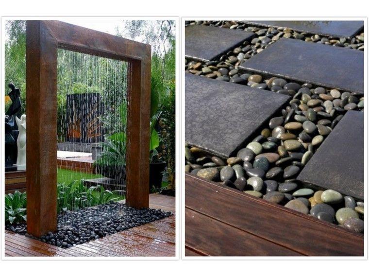 Dise o de jardines modernos 100 ideas impactantes - Jardineras acero corten ...