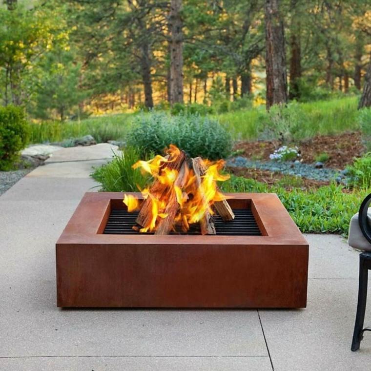 acero oxidado lugar fuego jardin precioso acero oxidado ideas