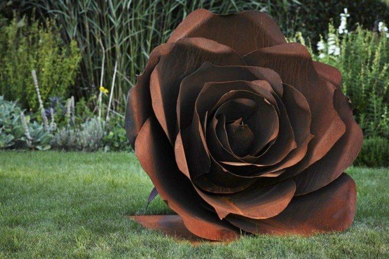 acero rosa grande decorativa jardin ideas