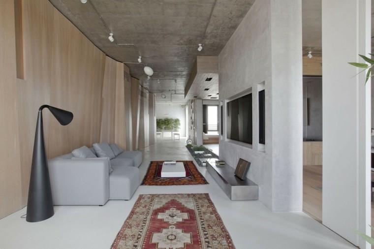 alfombra lampara moderna alargado hormigon