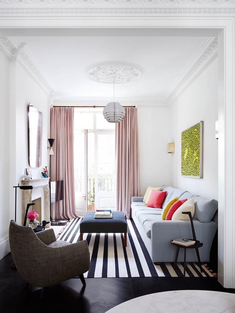 alfombra rayas consejos modernos