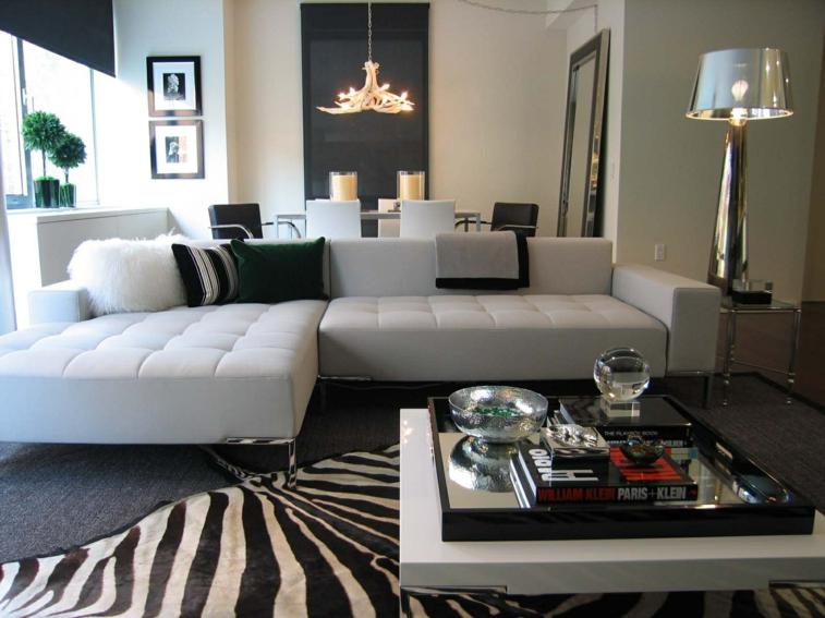 alfombra zebra color blanco negro