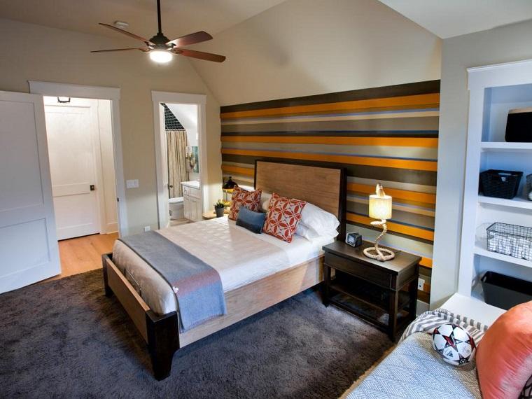 amplio cama grande alfombra gris dormitorios juveniles ideas