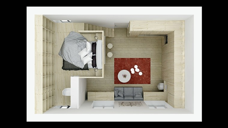 Apartamentos peque os ideas de dise os funcionales for Modelos de apartamentos pequenos modernos