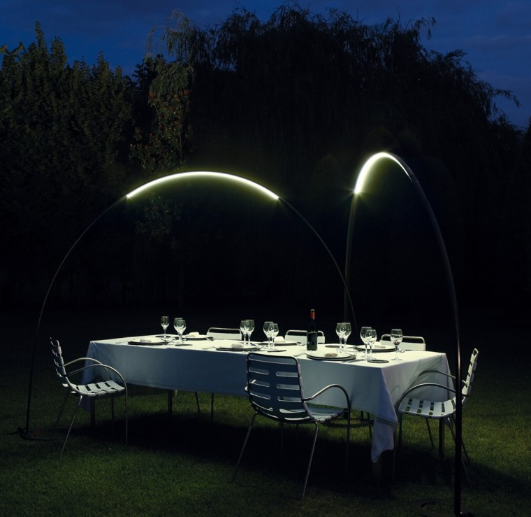 arcos luces accesoros jardin cometa