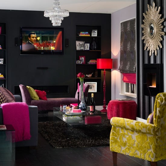Interior Design Ideas For Home Theater: Entretenimiento Y Diversión En Tu Salón Con Colores