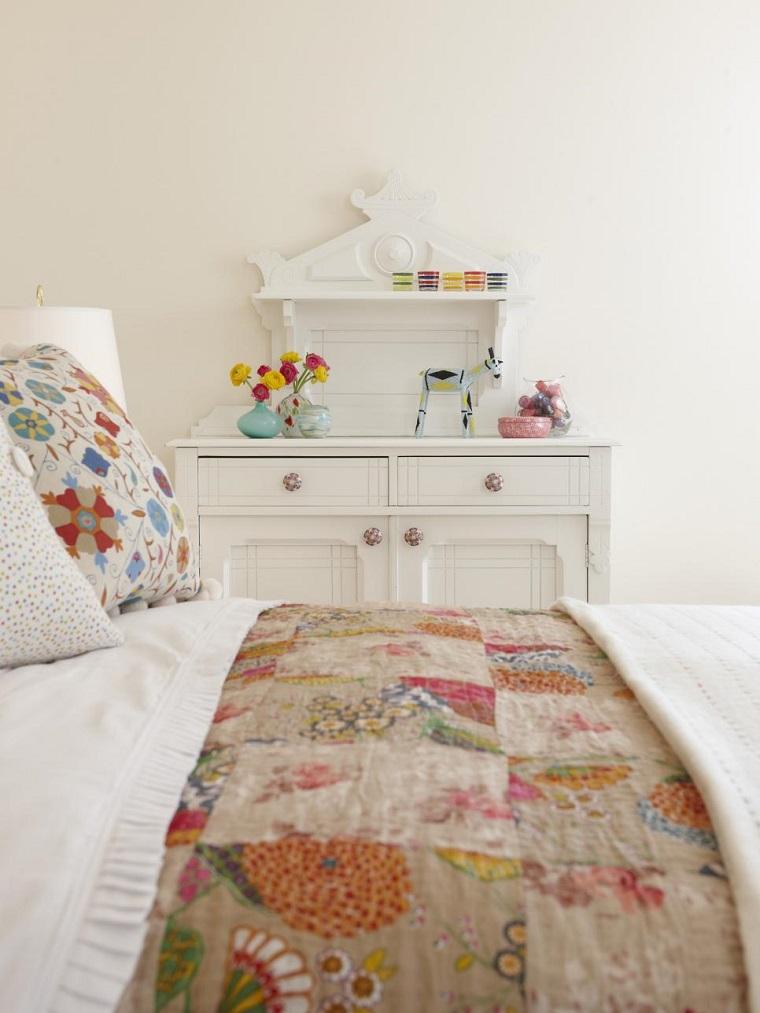 armario blanco perfecto ropa cama estampas ideas
