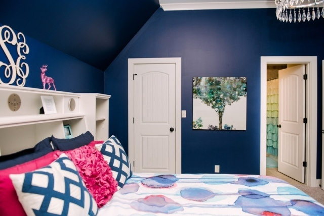 Interiores de recamaras juveniles en color azul - Color paredes habitacion ...
