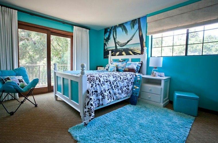 azul tropical muebles cortinas silla