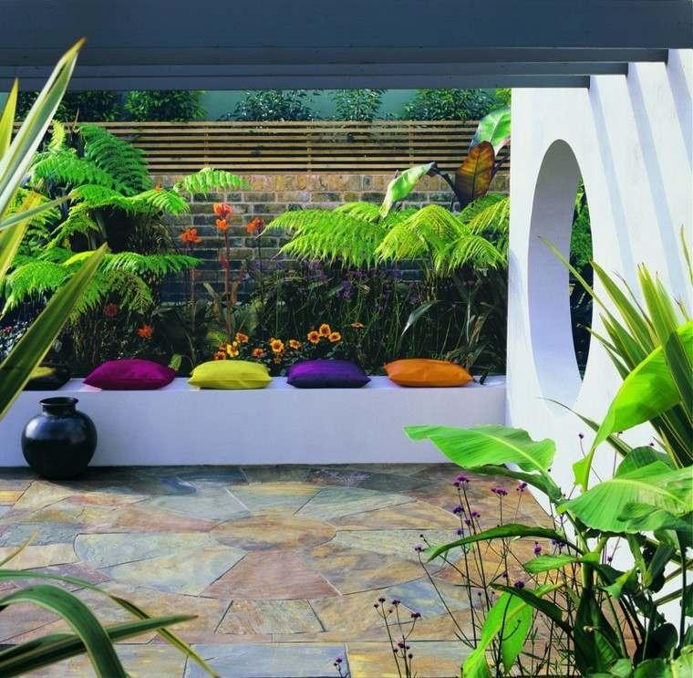 azulejos baldosas fomas geometricas jardin ideas