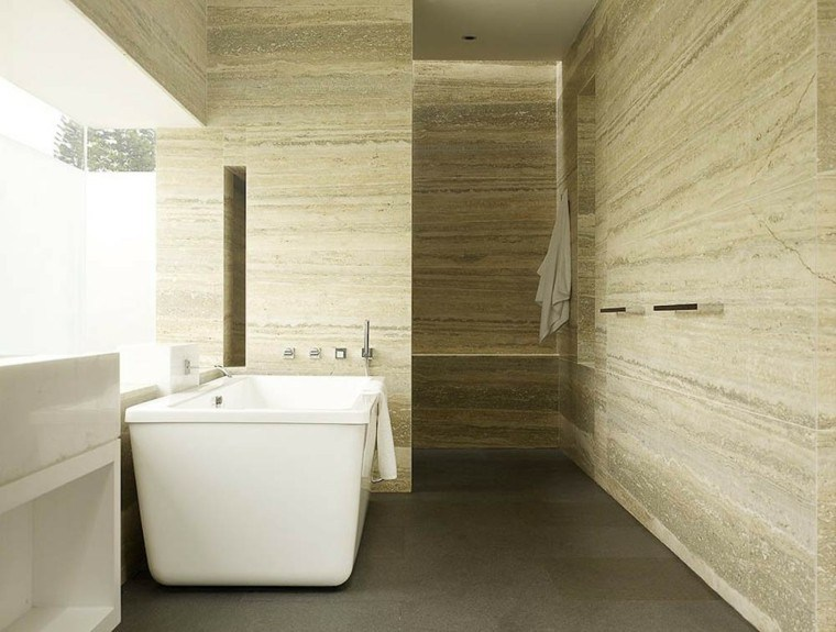 bañera blanco iluminado moderno revestimiento
