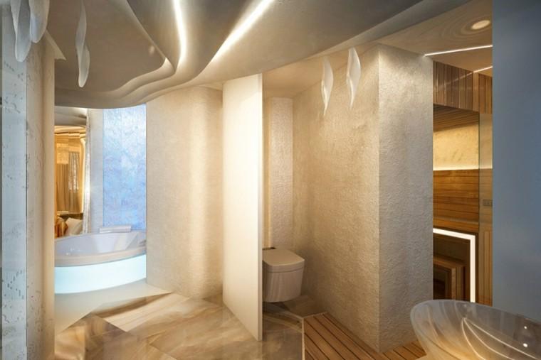 baño aseo estilo moderno lujo
