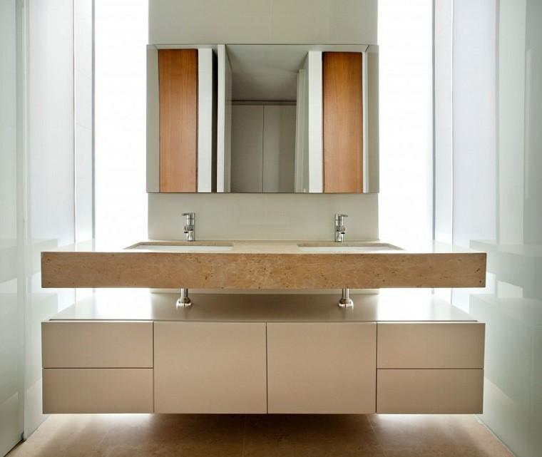 baño estilo moderno diseño blanco