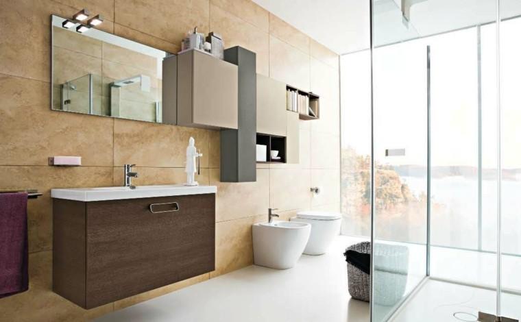 baño estilo moderno mamparas cristal