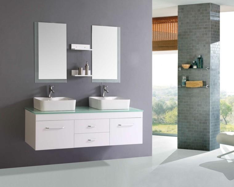 baño estilo moderno mosaico columna