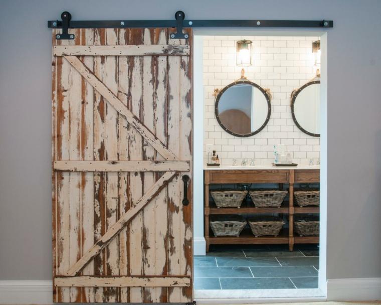 Puertas correderas de madera para el cuarto de ba o - Tipo de madera para exterior ...