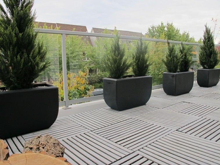 Maceteros 25 ideas inigualables que te har n pensar - Suelos de hormigon para jardin ...
