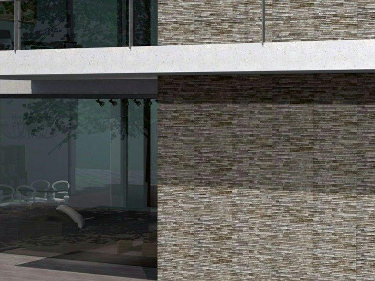 Revestimiento de paredes exteriores 50 ideas - Fachadas con azulejo ...