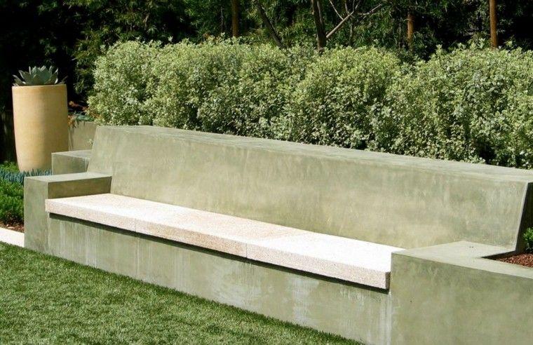 Bancos y gradas para el jard n veinticinco ideas for Bloques cemento para jardin