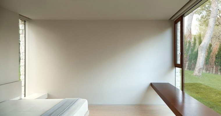 banco flotante dormitorio vistas jardin