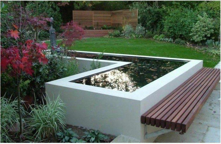 Bancos y gradas para el jard n veinticinco ideas - Muebles de teca para jardin ...