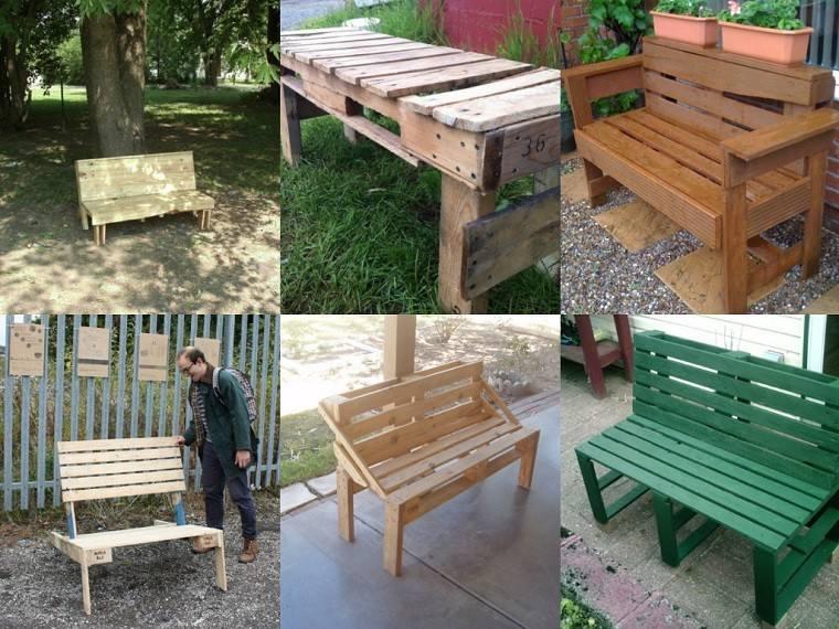 bancos de jardín de paletas diseños variados diy