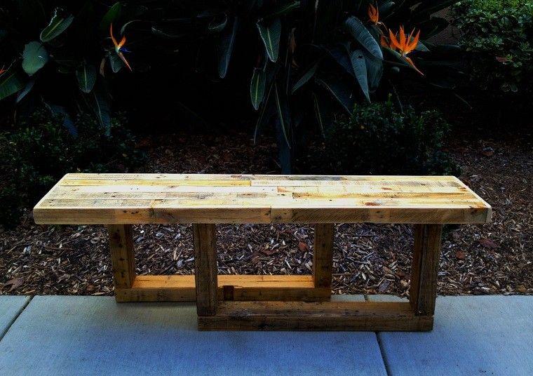 bancos de jardín de paletas elegante mantillo patio
