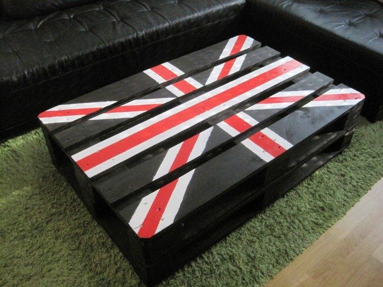 bandera mesa inglaterra oscura decoracion
