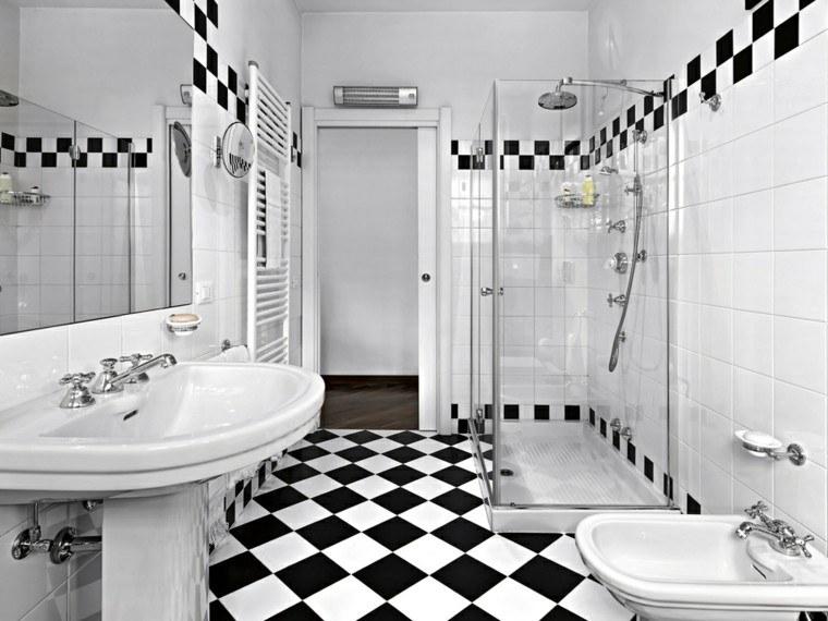 bano blanco negro ducha ideas bonito moderno