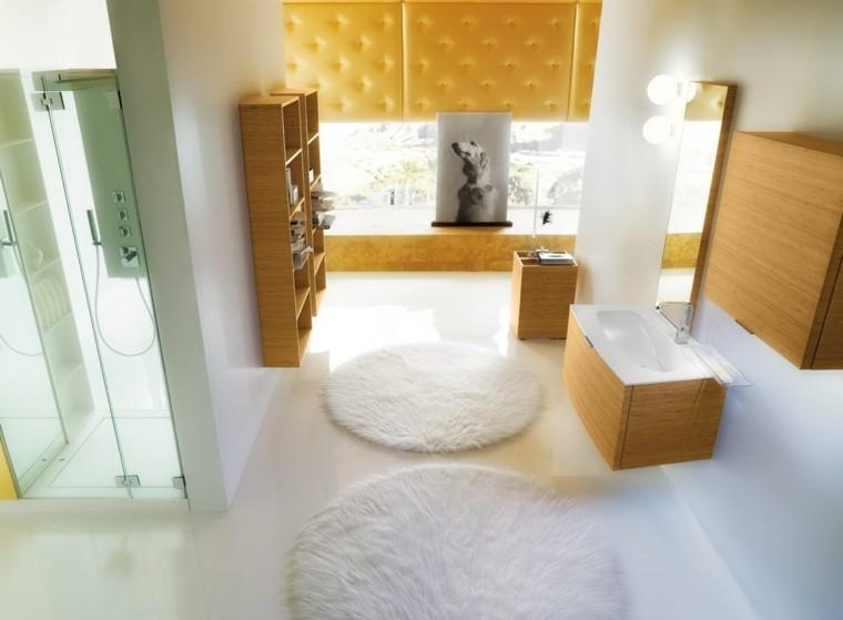 bano exquisito cuadro interesante muebles madera ideas
