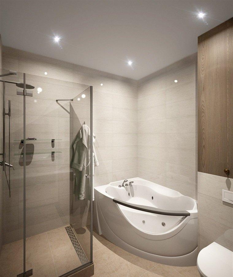 Cuartos de ba o con ducha y ba era muy singulares for Cuartos de bano modernos con ducha