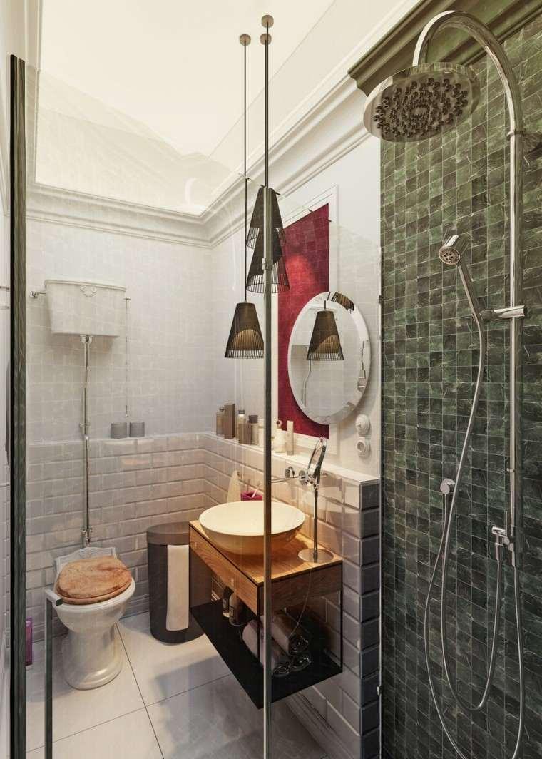 Baño Pequeno Mampara:bano pequeno mampara cristal ducha diseno ideas