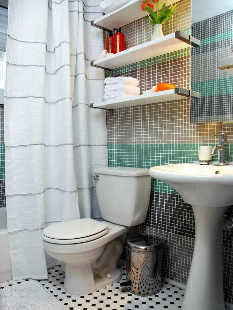 Ideas Azulejos Baño Pequeno:Floating Bathroom Shelf Ideas