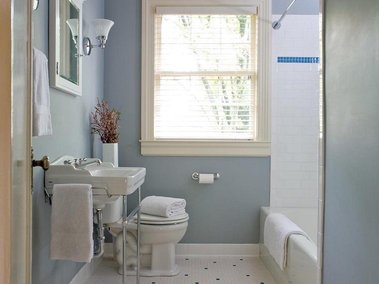 Fotos Baños Gris Blanco:Baños pequeños modernos con decoraciónes originales -