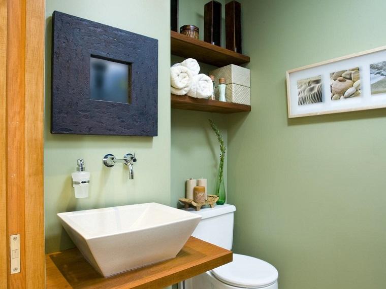 Ba os peque os modernos con decoraci nes originales - Cuadros para el bano modernos ...