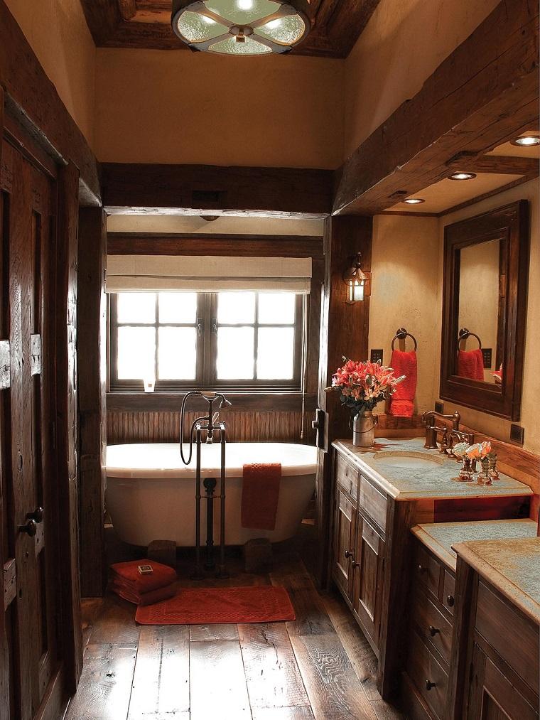 banos pequenos estilo rustico elegante estrecho ideas