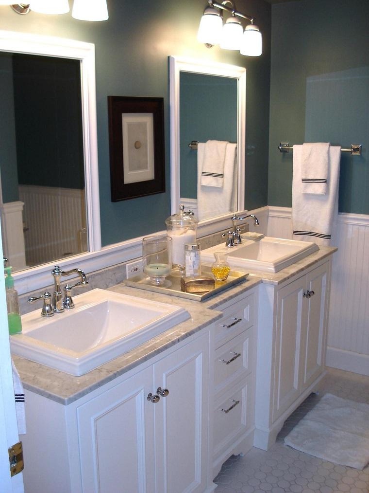 Bathroom Remodel Ideas White Cabinets : Ba?os peque?os modernos con decoraci?nes originales