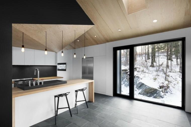 banquetas nieve led bosque diseño