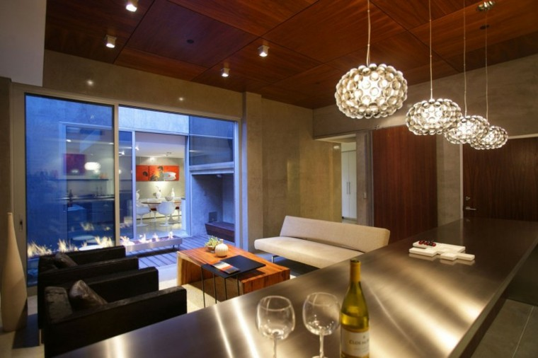 Techos de madera cincuenta ideas modernas for Bar en madera moderno