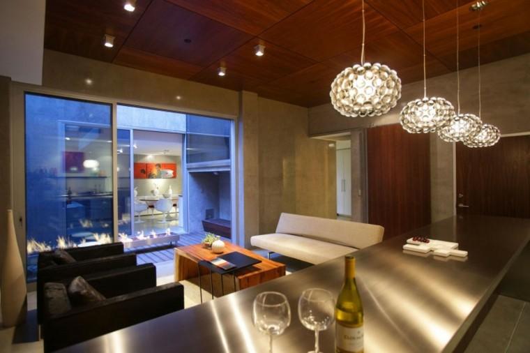 Techos de madera cincuenta ideas modernas - Iluminacion moderna de interiores ...