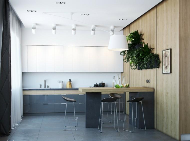 barra bar cocina moderna madera